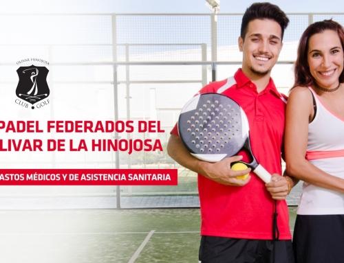 Ventajas seguros MAPFRE (Jugadores federados pádel Olivar de la Hinojosa)