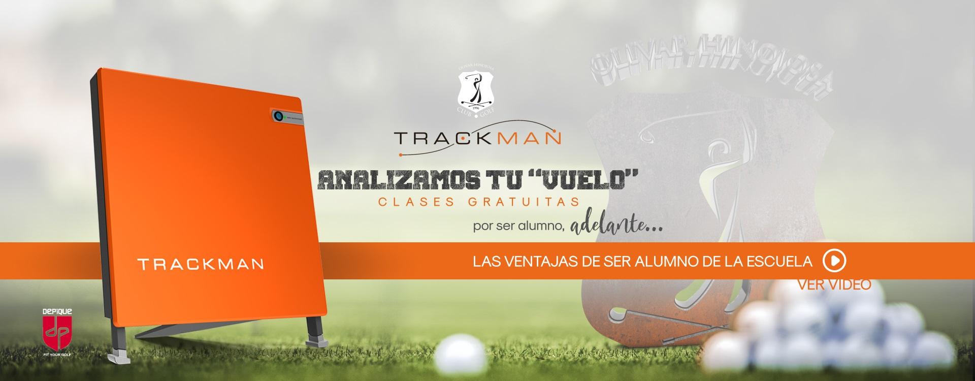 Trackman 4 para alumnos de la escuela Golf Olivar de la Hinojosa
