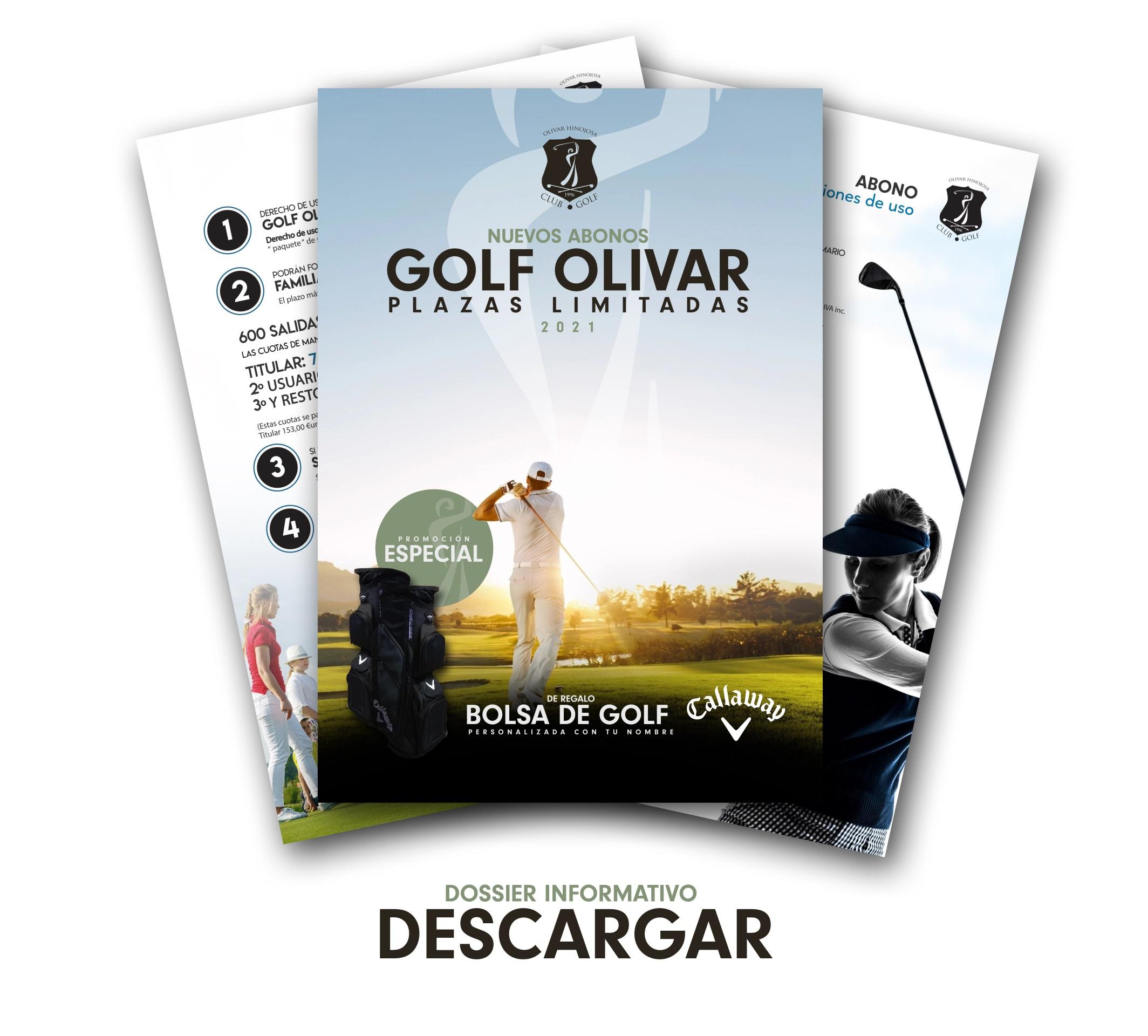 Golf Olivar Abonos banner 2021 Joaquin Molpeceres Sanchez